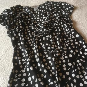 Allison Taylor Polka Dot Ruffle Top